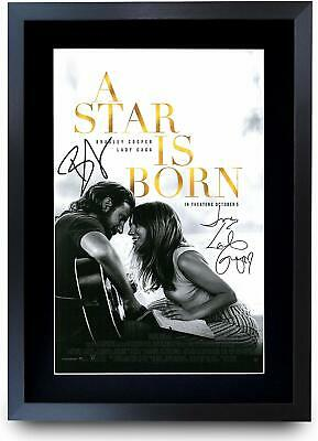 A Star is Born Signed Pre Printed Autograph Poster Gift For Cooper & GAGA Fans
