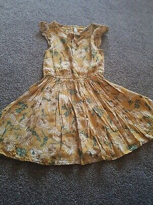 Next Girls Age 3 Yellow Floral Dress