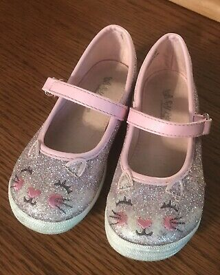 Toddler Girls Size 9T Self Esteem sparkly Cat Mary Jane Shoes