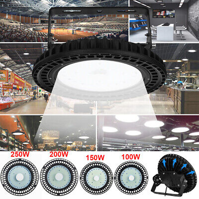 UFO LED High Low Bay Light 100/200/250W Factory Warehouse Gym Light Cool White