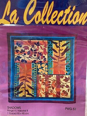 Ready-outlined Silk Scarf for silk painting PWG, Ideen 90cm square (PGW51)