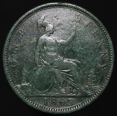 1863 | Victoria One Penny | Bronze | Coins | KM Coins