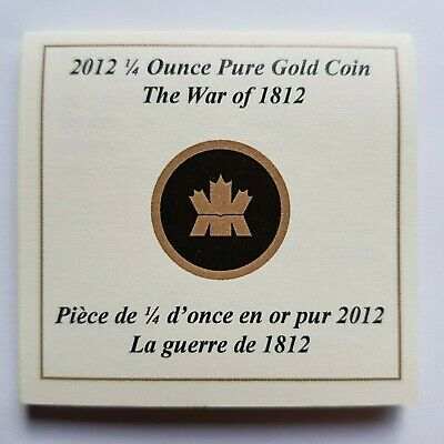 Canada - 10 Dollars - 2012 - War of 1812 - 1/4 oz Gold Coin - CoA Only / No Coin