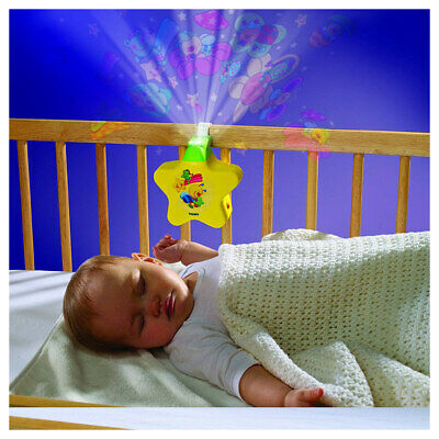 TOMY First Years Starlight Dream Show - Lights and Sounds Nightlight - Yellow