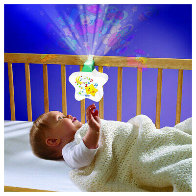 TOMY First Years Starlight Dream Show - Lights and Sounds Nightlight - White