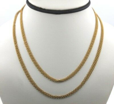 "Tiffany & Co. 20K Yellow Gold Elsa Peretti Mesh 36"" Chain Necklace"