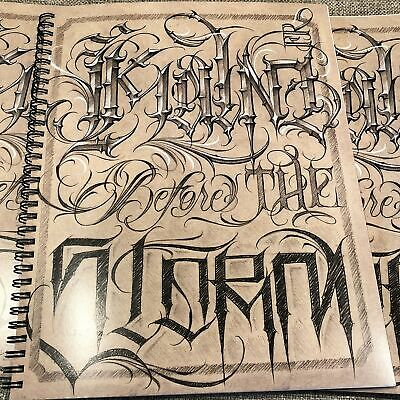 Kalm One - Kalm Before the Storm Vol. I - LA Tattoo Lettering Flash Book