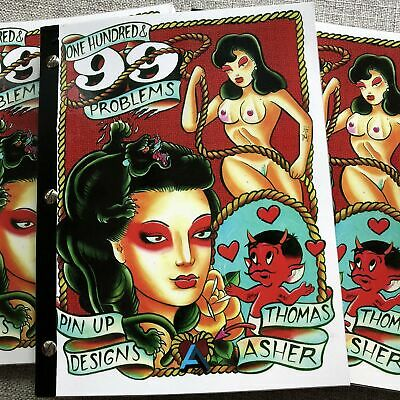 Thomas Asher - One Hundred Ninety-Nine Problems - Tattoo Pinup Flash Book