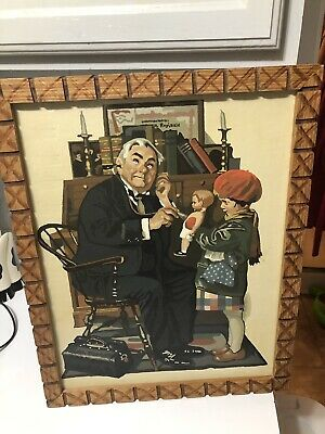 Vintage Paint by Number Norman Rockwell The Doctor and The Doll