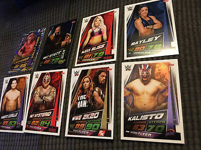 WWE Topps Slam Attax Universe Hall of Fame Cards x 8 New 2019