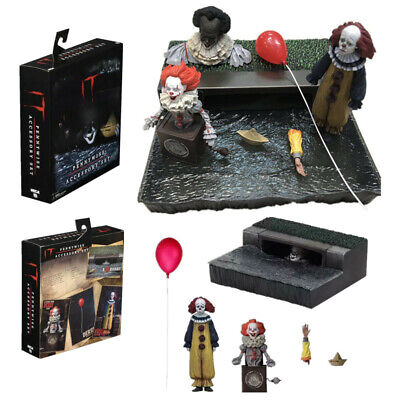 """NECA 7"""" Scale Stephen King's It Joker Sewer Ultimate Pennywise Action Figure Toy"""