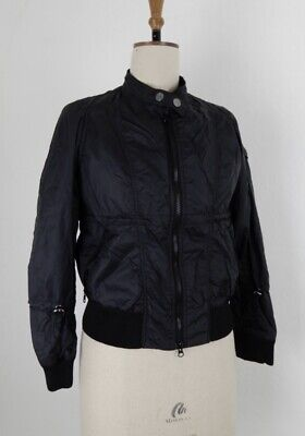 New - ladies / girls black biker / casual bomber jacket - size Small / UK 10