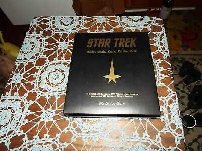 Star Trek Complete Series of 60 22 KT Gold Cards and Binder by Danbury Mint