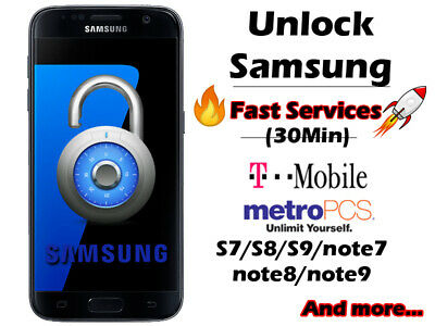 unlock samsung worldwide T-Mobile Metro Docomo At&t s9 s10 note10 a50 j7 fast
