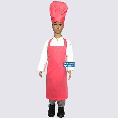 Kids Chef Hat & Kids Chef Apron Pink - See our Ebay store for Kids Chef Costumes