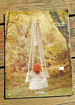 Vintage 1976 Marame Elegance How To Pattern Book Plant Hangers