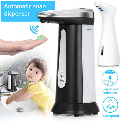 Touchless Soap Dispenser Battery Operated Electric Automatic HandsFree Bathroom