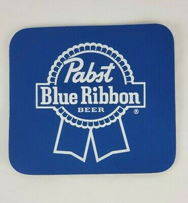Pabst Blue Ribbon Beer Mouse Pad  NEW OLD STOCK  NOS PBR