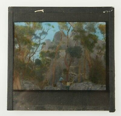 MAGIC LANTERN SLIDE Rare Australian Landscape Scene Castlerocks NSW c1890? 1900?