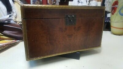 "Nice Vintage Wood storage box 15"" long 8"" wide by 9"" tall"