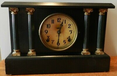Vintage 1900's Ingraham used Mantel clock in working condition