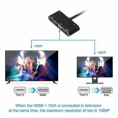 Type-C To HDMI VGA Audio Adapter HUB Converter For Projector Display Screen