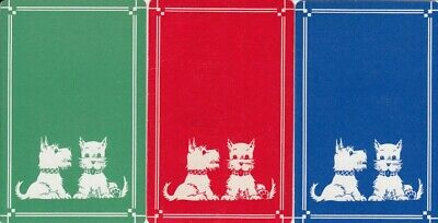 Vintage Swap Playing Cards - 3 Single - Scottie Dogs #4