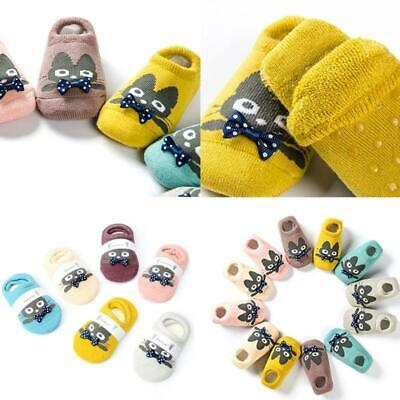 6Pairs Cute Cartoon Kids Baby Floor Socks with Grips Toddler Children Thick SocK