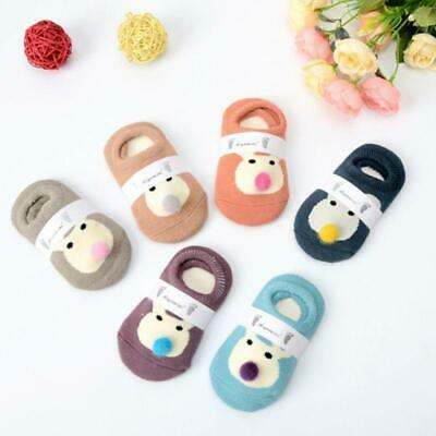 6 Pairs Baby Infant Boys Girls Anti Slip Socks Winter Warm Cute Floor Sock W