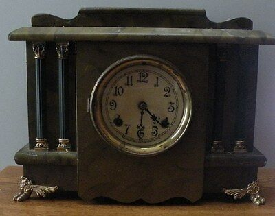 Vintage 1900's New Haven used Mantel clock in working condition