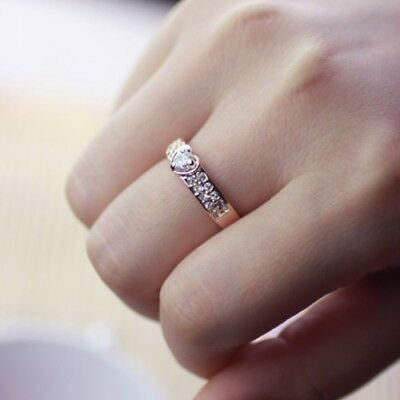 Diary Day 18K rose gold 1.25ct simulated diamond wedding ceremony ring size 7