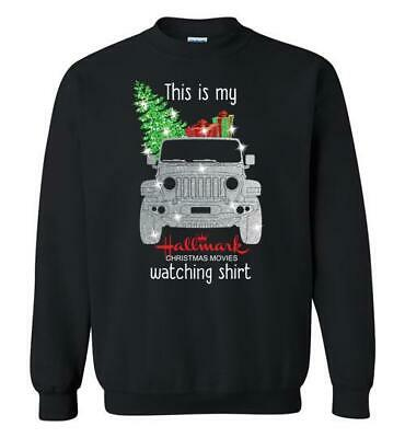 This Is My Hallmark Jeep Christmas Movie Watching Crewneck  long sleeve shirt