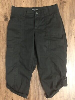 RIDERS by LEE CARGO MID RISE SKIMMER CAPRI BLACK PANTS Size 10 M