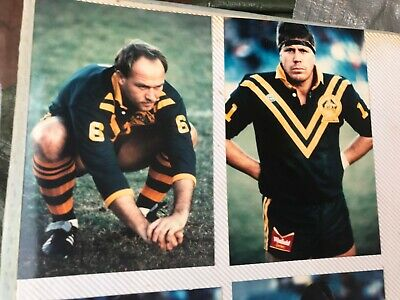 Rugby League Kangaroo Press Photographer Film Photos Wally Lewis Fullerton Smith