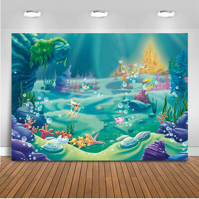 Photography Background Sea Mermaid Photo Backdrop Props Birthday Party Decor