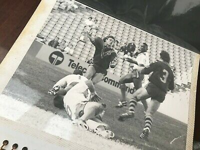 Rugby League Great Britain Kangaroos Test Press Film Action Photo Ellery Hanley