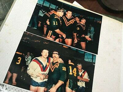 2 x Rugby League Great Britain Kangaroos Test Match Press Film Photos