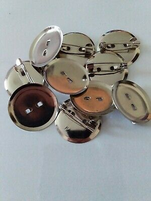 10 Blank Silver Badge Plate And Pin