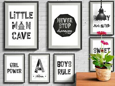 Print African Style Kids Child Bedroom Nursery Pictures Posters Wall Art Decor