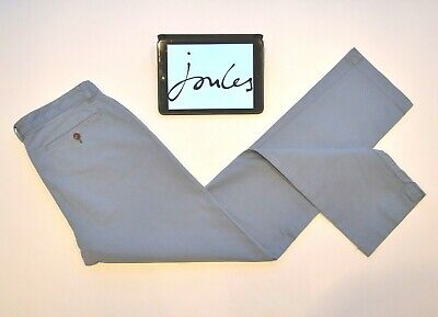 Joules Mens Chino Trousers Pants Light Blue Classic Straight W34 L33 Cotton