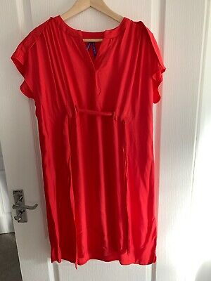 Seraphine Tie Red Maternity Dress Size UK10