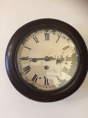 Vintage Empire  Railway Station/ Kitchen/ School Wall Clock Oak Case 8 Day