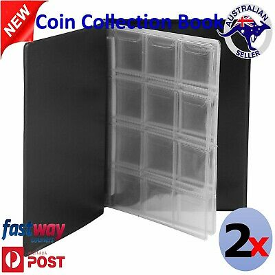 2x Coin Stock Holder Pockets Money Storage Collection Album Book Collecting AU