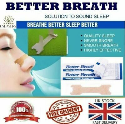 Nasal / Nose Strip - Breathe better -  *Snoring & Athlete aid 5-100 Anti Snoring
