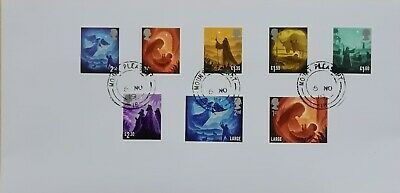 GB 2019 Commemorative Set of very fine used Christmas stamps on envelope