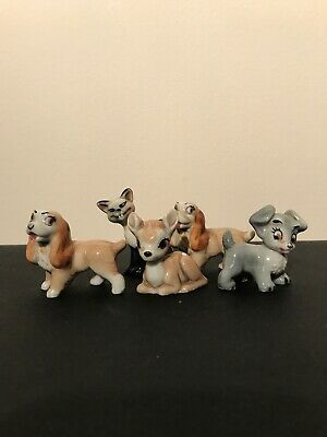 WADE 1950s DISNEY SCAMP, SI, LADY & BAMBI Hat Box Series  Set One 1956-1965