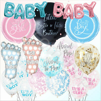Baby Shower Balloons Boy Girl Unisex Latex Foil Helium Party Balloon Decorations