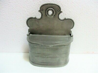 Antique Pewter Hanging Salt Box Rome Italy Roma Campobasso COLLECTIBLE