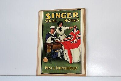 Magnetic Collectible Singer Sewing Machine Wooden Magnet 4x6 Best British Built