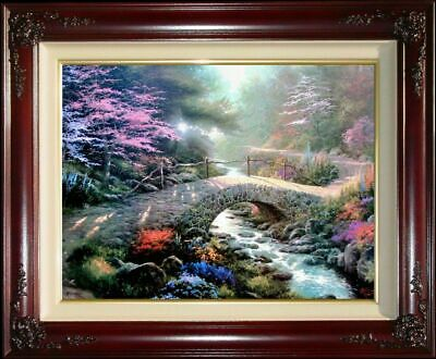 "Thomas Kinkade Bridge of Faith canvas 25.5"" x 34""  S/N Edition"